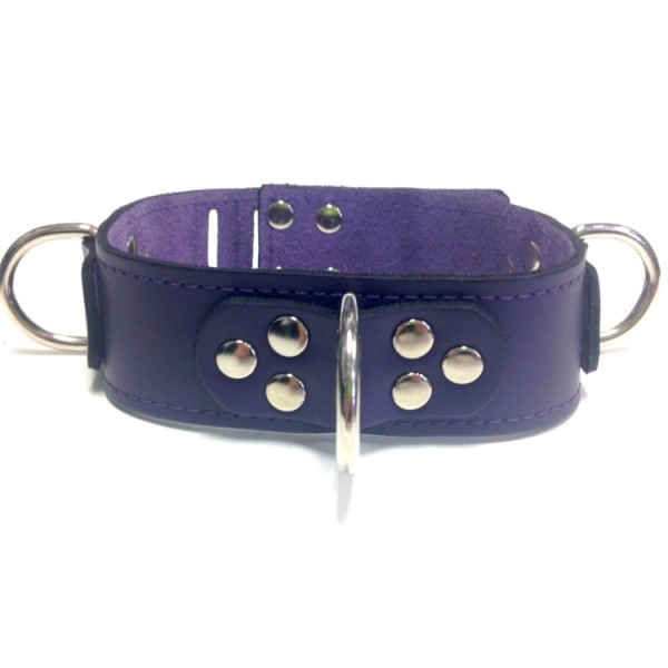 Kookie Triple D Ring Leather Collar