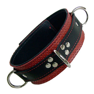 Kookie Perforated Leather D-Ring Collar