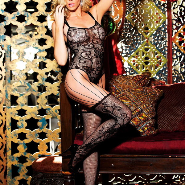 HOT 90301 Lace Strappy Bodystocking