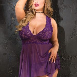 HOT 96618 Lace & Mesh Babydoll